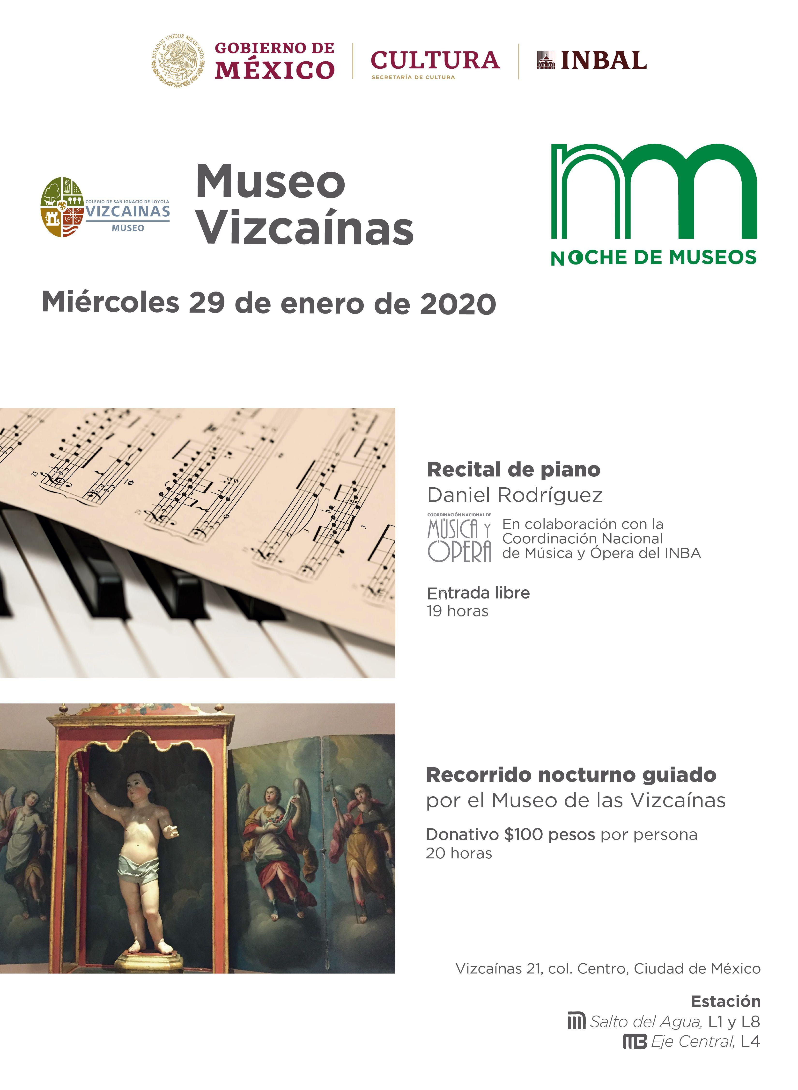 Museo Vizcaínas 29 de Enero
